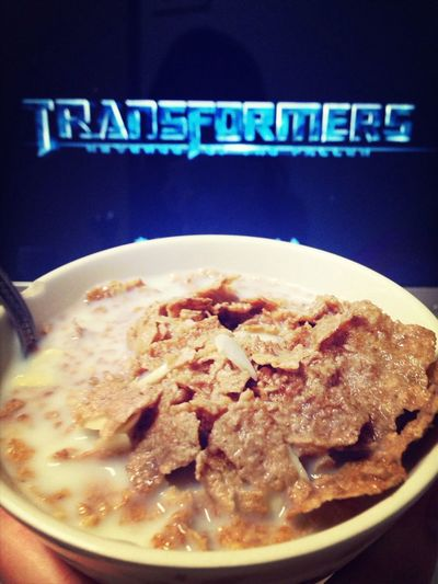 Watchin Transformers 2  Eating Cereal Evening Monday