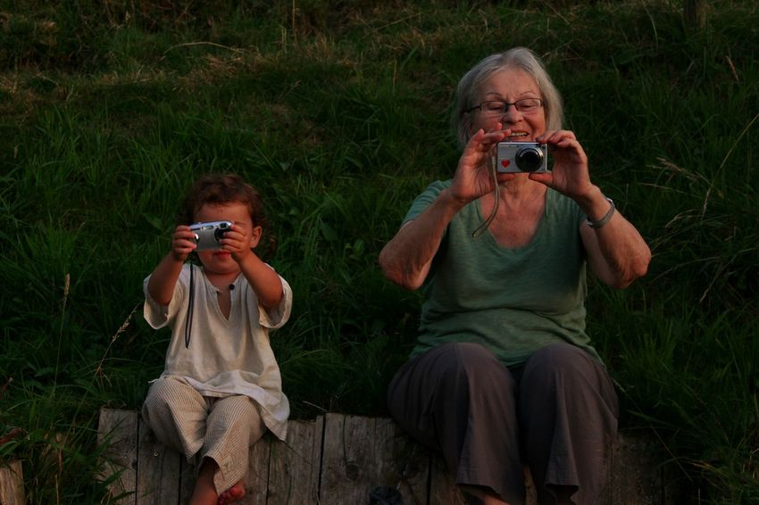 Old But Awesome MyGrandMother And Little Cousin In The Swiss Alps Real Live Situation Summer People Time EyeEm. Eye4photography  EyeEm Best Shots EyeEm Gallery Open Edit Filter Beautiful @team Mobile Conversations 2018 In One Photograph Moments Of Happiness