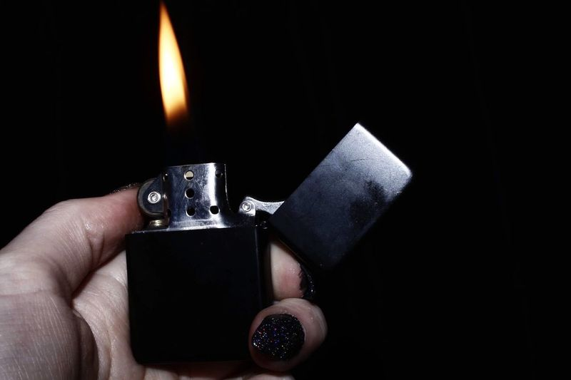 Flame Cigarette Lighter Human Body Part Burning Human Hand Black Background Heat - Temperature Holding Close-up Studio Shot One Person Indoors  One Man Only People Adult Day Photography Canon Canon700D The Minimalist - 2019 EyeEm Awards