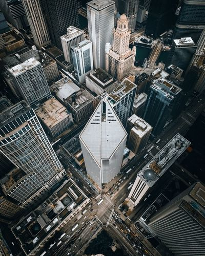 💎💎💎 Overview Cityscape Aerial View Aerial Chicago EyeEm Selects Full Frame Pattern Architecture Built Structure Backgrounds No People High Angle View City Day Building Exterior Outdoors Building Street Glass - Material Design Close-up Window Glass