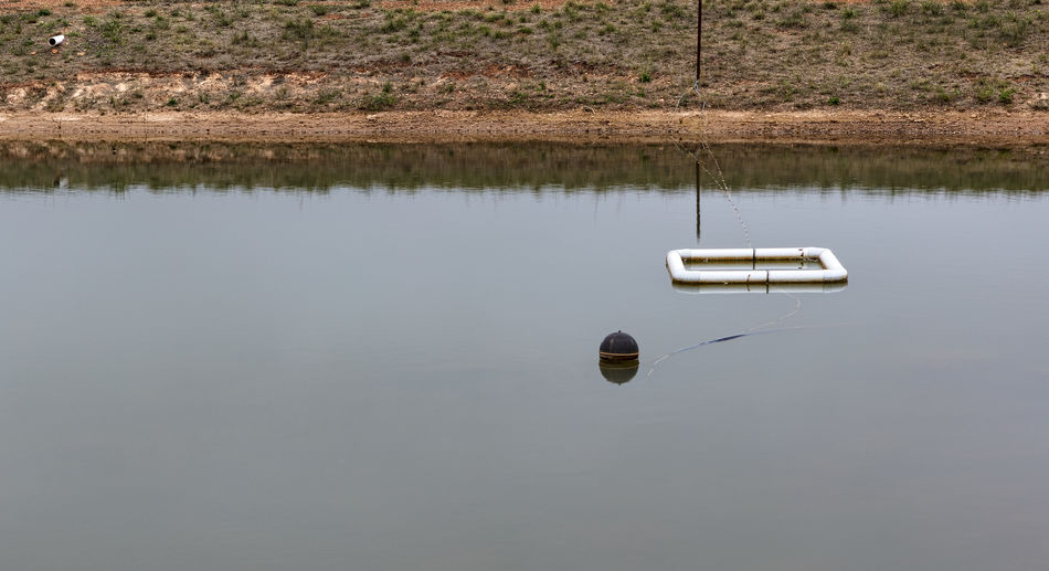 Buoy On The Water Floating On Water Geometry Lake No People Reflection Water