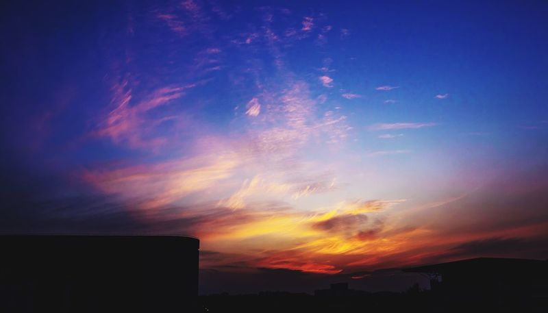 Sunset Sky No People Beauty In Nature Silhouette Built Structure Nature Building Exterior Cloud - Sky Tranquil Scene Scenics Architecture Outdoors Day