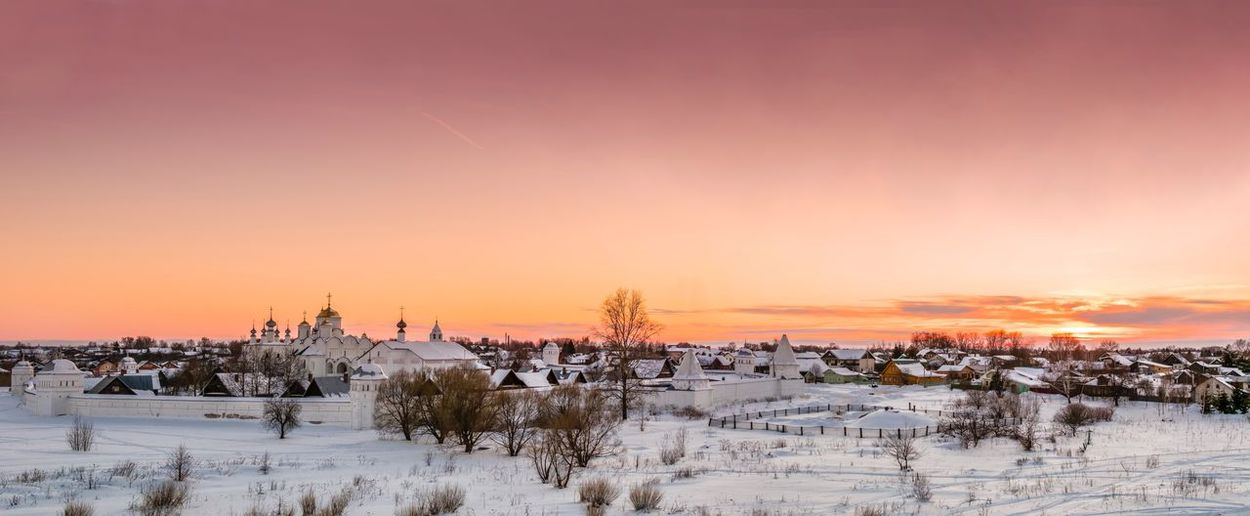 Suzdal EyeEm Selects Sky Sunset Beauty In Nature Scenics - Nature Cold Temperature Winter Snow Nature Architecture Tranquility Idyllic No People Environment My Best Travel Photo