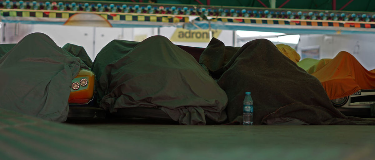 View of tent on bed