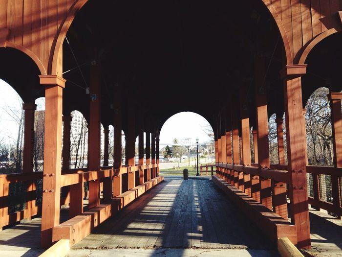 Empty Wooden Bridge