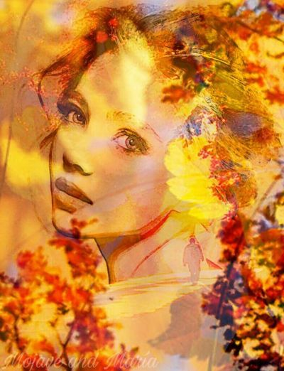 Young Women Multi Colored Multiple Exposure Autumn Autumn Colors Beauty In Nature Woman Season  Artwork By Me Edited By Me