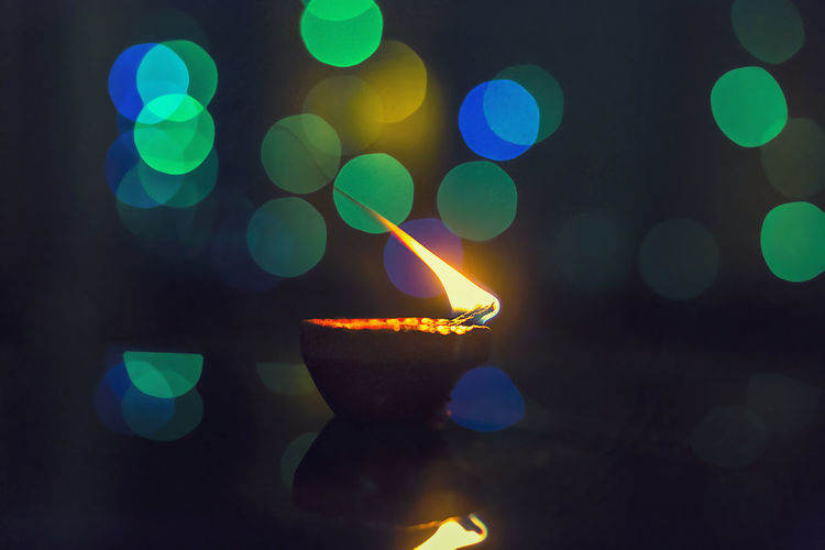 Illuminated Lighting Equipment Night Lens Flare Green Color No People Defocused Multi Colored Indoors  Close-up Neon Diwali Diwali 2017 Diwali Festival In India Diwali Celebration Diwalicelebrations Indian Culture  Indian Festival Indian culture