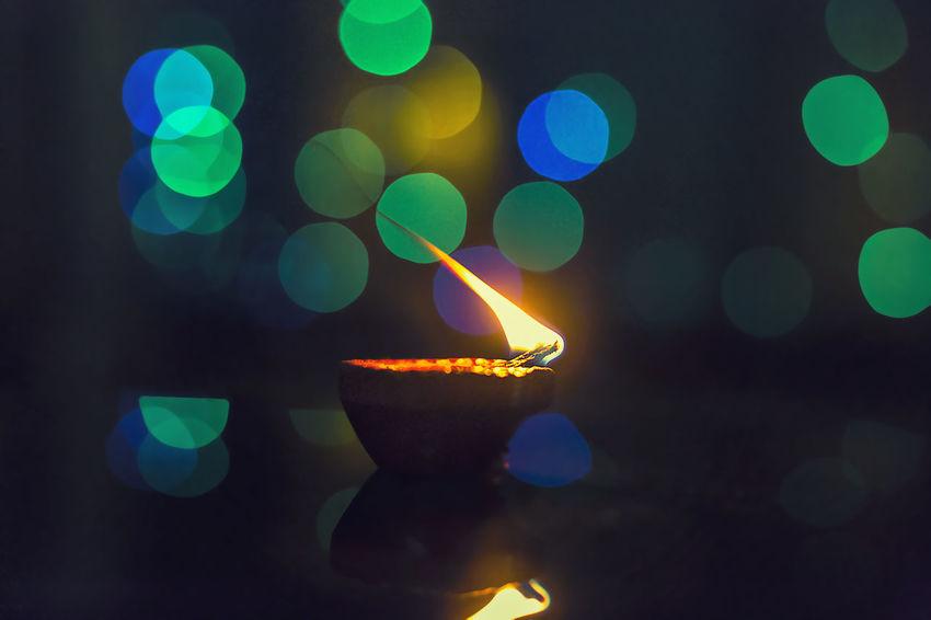 Illuminated Lighting Equipment Night Lens Flare Green Color No People Defocused Multi Colored Indoors  Close-up Neon Diwali Diwali 2017 Diwali Festival In India Diwali Celebration Diwalicelebrations Indian Culture  Indian Festival Indian culture