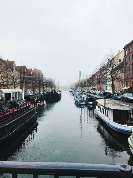 Tourism Danmark Natur Denmark Water Transportation Mode Of Transportation Nautical Vessel Sky Architecture Built Structure City Day Reflection Travel River Nature Yacht Waterfront