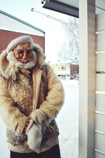 Santa baby ll Santa Santa Claus Father Christmas Christmas Beard Winter Cold Temperature One Person Snow Mammal Clothing Warm Clothing Lifestyles Fur Real People Window Portrait Leisure Activity