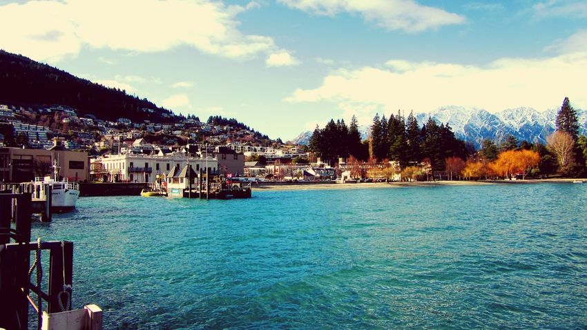 port harbour queenstown. day off sunny day. Relaxing Enjoying Life