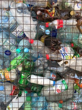 Recycling plastic Recycled Plastic Recycle Recycling Bin Recycling Plastic Waste Plastic Bottle Plastic Multi Colored Full Frame Backgrounds No People Pattern Day Fence Boundary Chainlink Fence Barrier Wall - Building Feature Built Structure Choice Architecture Large Group Of Objects Outdoors Variation For Sale Metal Window