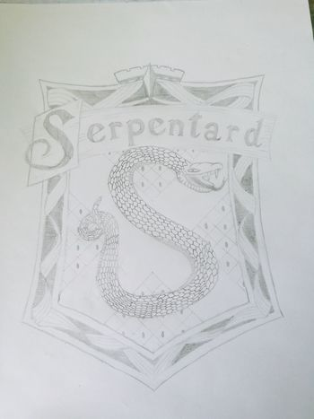 Hanging Out Relaxing I Did This Bleistiftzeichnung Pencil Drawing HuaweiP9 Harrypotter Slytherin Serpentard Art Is Everywhere