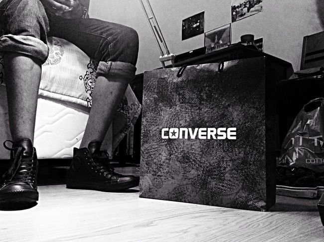Shoes Are Boring Wear Sneakers! All Black Leather Chucks from Converse All Star. Tocamepicture Visualtelepathy
