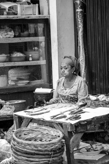 Portrait of a woman sitting