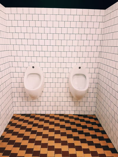 Interior of empty bathroom