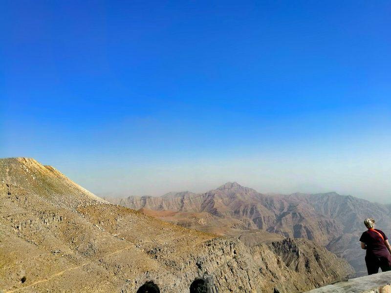 Jabal Jais Mountains And Sky