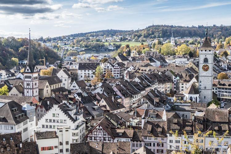Aerial view of schaffhausen