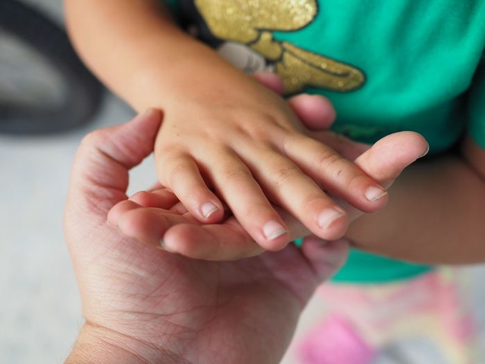 Human Hand Child Bonding Togetherness Childhood Men Women Females Holding Males  Family Bonds Offspring Young Family Father Family With Three Children Daughter
