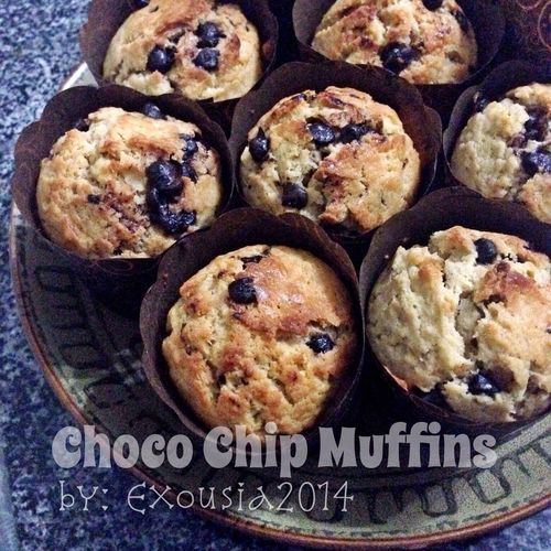 Choco Chip Muffins made by my daughter.. Choco Chip Muffins