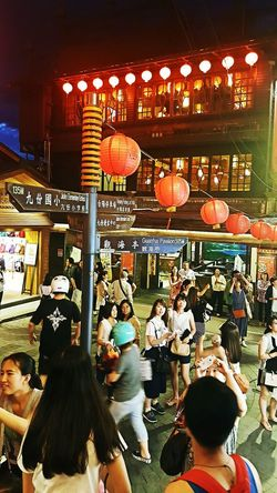 Busy street of Taiwan. Large Group Of People Crowd People Cultures Taiwan Taiwan Beautiful View Taiwanese Taiwanscape Adapted To The City
