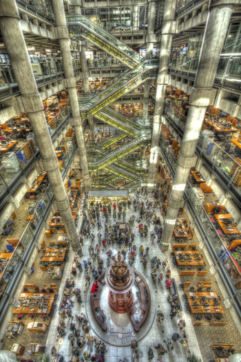 Architecture Built Structure City Day High Angle View Illuminated Indoors  Lloyds Building Metal Modern No People Stadium Transportation