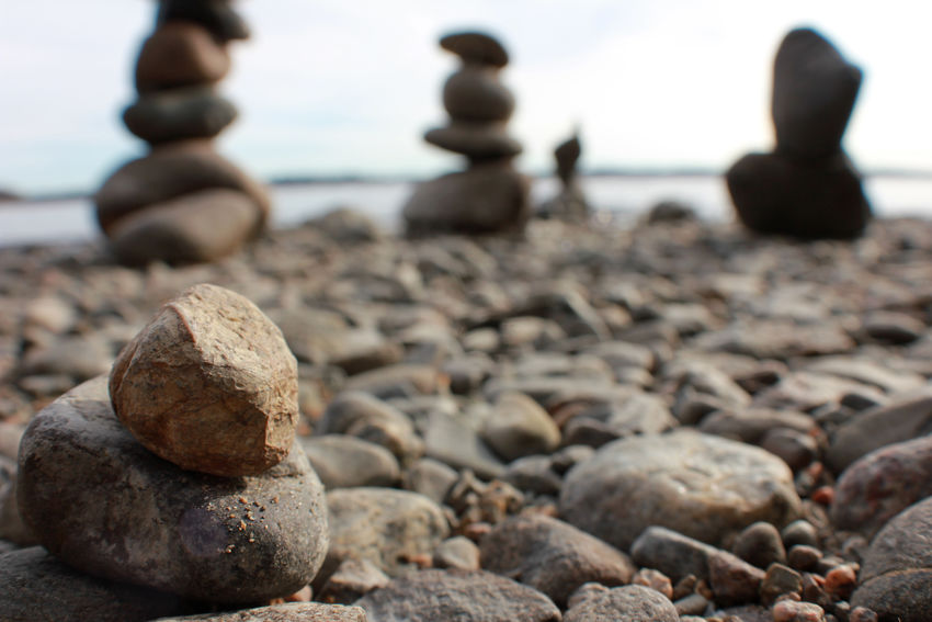 Spring is coming! Beach Close-up Day Kevät Kivet Kivi No People Outdoors Pebble Pebble Beach Pikkukivet Pino Pyynikki Ranta Rock - Object Sea Shore Sky Spring Stack Stone - Object Tranquil Scene Water Zen-like