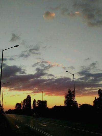 The Drive Sofia Airport Sunset Cloud - Sky Transportation Sky Road