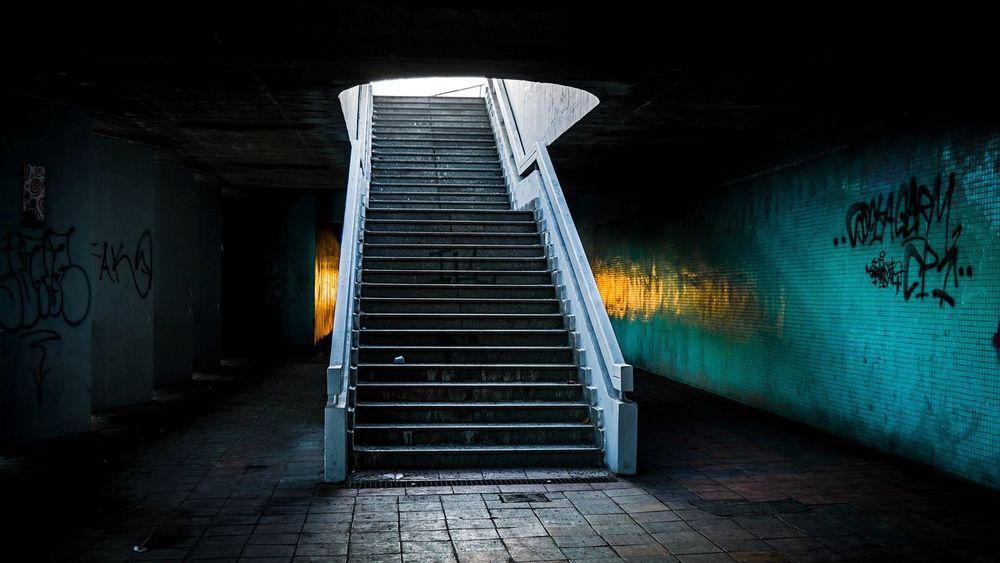 Architecture Photo Photography Architecturephotography Urban Urban Photo Stairs Staircase Shadow Light Blue Tunnel Brigde Love Amazing Picoftheday Photooftheday Graffiti 2017 Nice