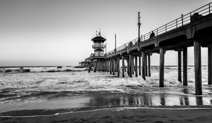 Life in Black and White Huntington Beach Pier Huntington Beach CA Orange County Beach Black And White