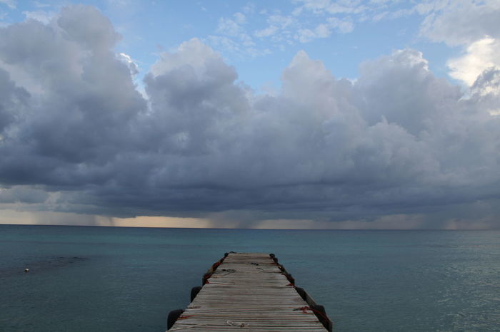 2007 Dominican Republic Dominicus Beach Stormy Weather Beauty In Nature Cloud - Sky Day Horizon Over Water No People Outdoors Pier Sea Sky Water