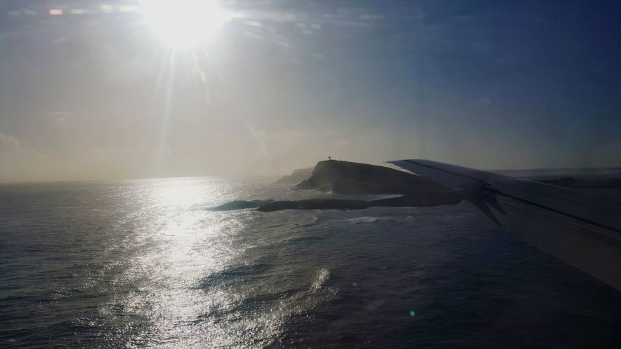 Coming in to land at Sumburgh Airport in the Shetland Islands. This picture doesn't do it's coast line any justice, but if you have the chance to check out. you should jump at the chance Coast Coastline Shetland Shetland Islands Scotland VisitScotland Lovescotland ShotFromTheGalaxy Samsung Samsunggalaxys6 Mobilephotography Water Sea Sunlight Sun Beach Sunbeam Lens Flare Sky Landscape Horizon Over Water Ocean Rocky Coastline