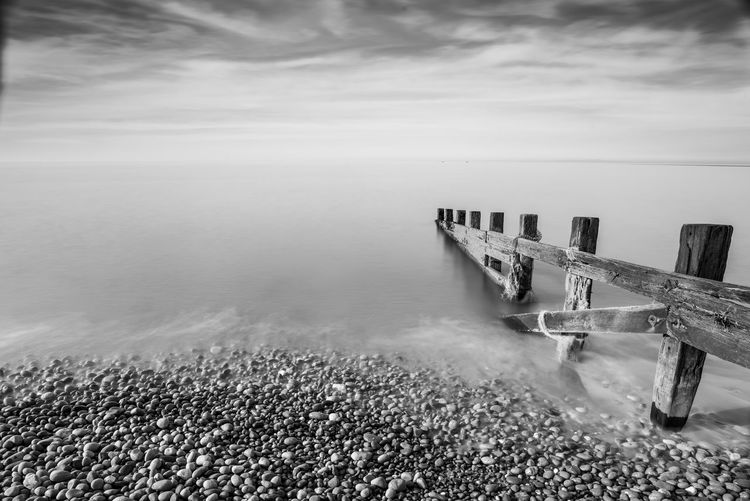 Groynes sea and pebbles Calm Post Card St Bees Wood Beauty In Nature Black And White Brochure Coast Day Groyne Groynes Horizon Over Water Nature No People Outdoors Pebbles Room For Text Scenics Sea Shore Sky Tourism Tranquil Scene Tranquility Water
