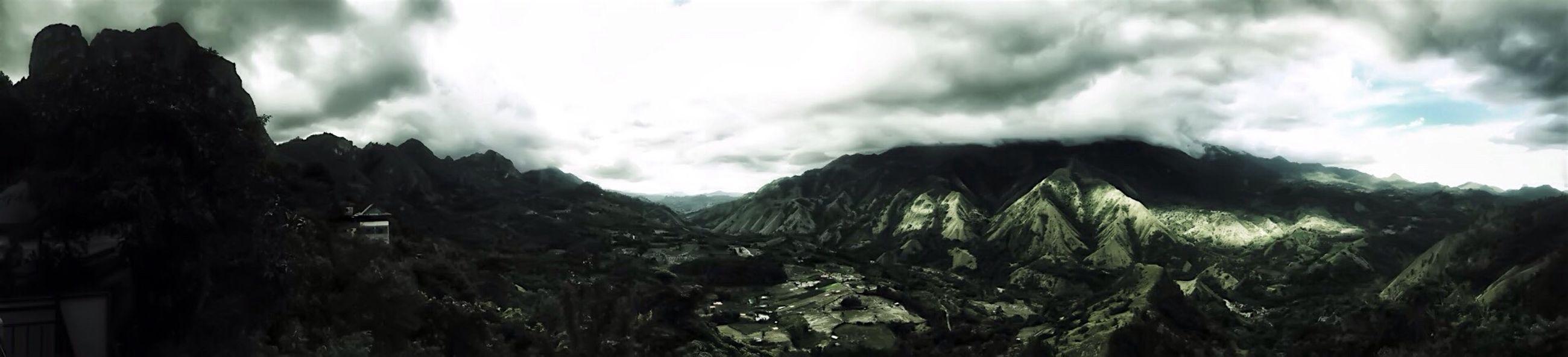Panorama Bambapuang & Buttu Kabobong Mountains Landscape Outdoor Panoramic Panorama