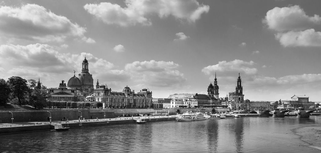Black & White Dresden GERMANY🇩🇪DEUTSCHERLAND@ Architecture Blackandwhite Building Exterior Built Structure City Cityscape Cloud - Sky Day Germany Germeny River Sachsen Sky Travel Destinations