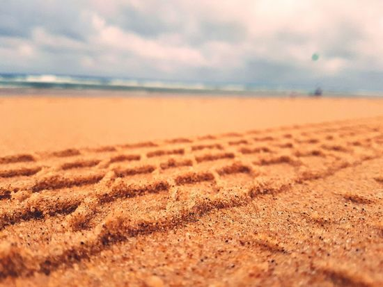 EyeEm Selects Sand Beach Sky Landscape Sea Water Outdoors Beauty In Nature Horizon Over Water Storm Cloud Wave Perspectives On Nature