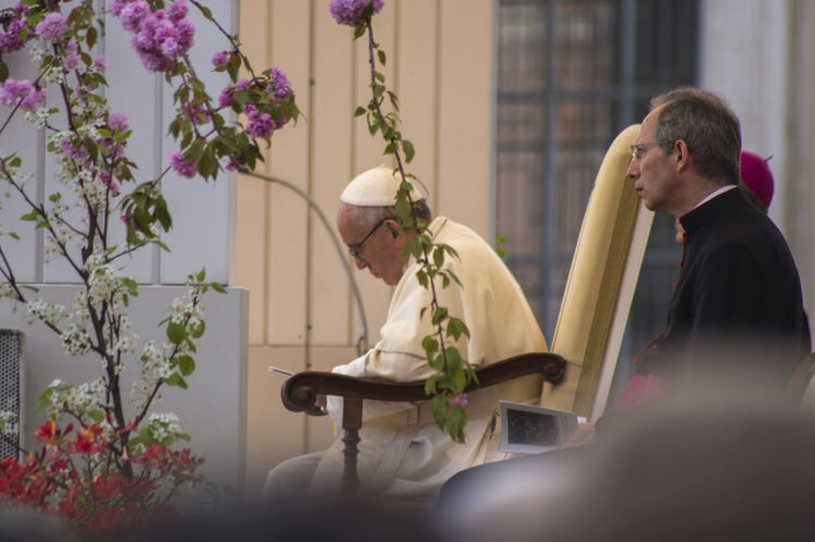 Christianity Church Famous People Famous Place Flower Leisure Activity Lifestyles Mass Person Plant Pope Religion Sitting Vatican Vatican City VaticanCity Vaticano