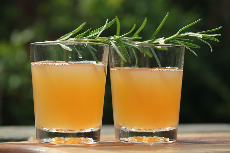 Cocktail Juice Rosemary Alcohol Close-up Cocktails Cold Drinks Day Drink Drinking Glass Focus On Foreground Food And Drink Freshness Green Color Greyhound Mixology No People Outdoors Refreshment Rosemary Herb Rosmarin