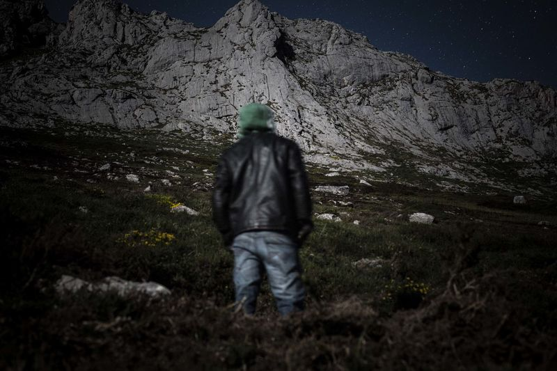 Boy Landscape Lookingup Mountains Nature Night Nightphotography Stars & Dreams