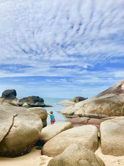 Sea Real People Sky Leisure Activity Cloud - Sky Water Rock Beauty In Nature Scenics - Nature Beach The Traveler - 2018 EyeEm Awards