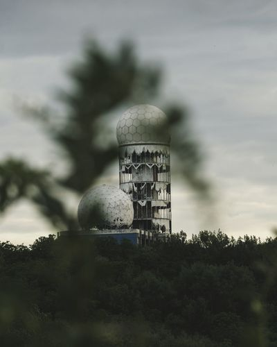 monitoring' Tower Built Structure Silhouette Radar No People Tree Sky Building Exterior Architecture Outdoors Technology Astronomy Nature Day Germany Berlin Photography Lostplaces Urbex EyeEmNewHere Architecture Massive Buildings Damaged Damaged Building White Discover Berlin Visual Creativity Adventures In The City The Architect - 2018 EyeEm Awards The Great Outdoors - 2018 EyeEm Awards The Creative - 2018 EyeEm Awards #urbanana: The Urban Playground