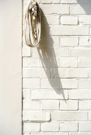 White Wall Brick Wall Bricks Structure Building Day Close Up Full Frame Rope Built Structure Shadow Pattern Wall Wall - Building Feature No People Close-up Stone Wall Brick Whitewashed Housing Settlement Residential Structure Exterior Backgrounds Tied Textured  Tiled Wall White Color Hanging Simplicity Focus On Shadow