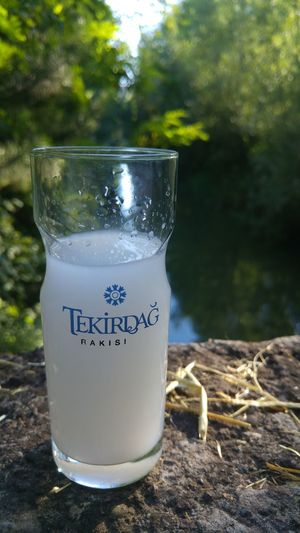 Drinking Glass Drink Refreshment Text Freshness Food And Drink No People Water Summer Healthy Eating Day Tree Outdoors Nature Close-up Grass RAKI Uzo