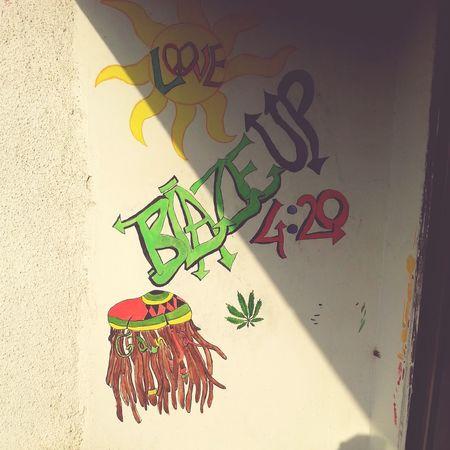 Graffiti Mywall Stonerlife 420 Blazeup Bob Marley ✌ MaryJane #Kush Love ♥ Hippie ✌