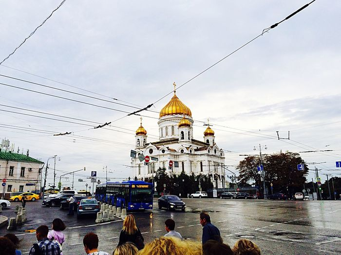 Kropotkinskaya Architecture Church Moscow Moscow City Cathedral Of Christ The Saviour
