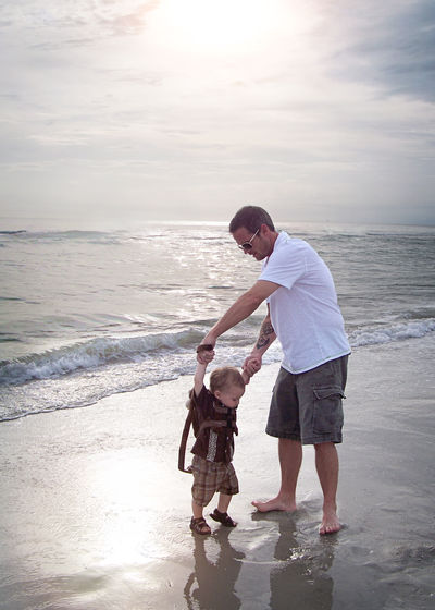 Beach Capture The Moment Childhood Father & Son Firsts Ocean