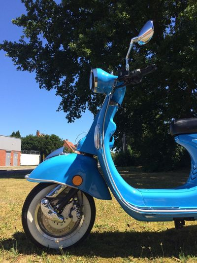 Vespa Cool Classic Scooter Classic Scooters Germany Summer Transportation Oldschool Vintage Motor Vehicle Motorcycle Vespa Nature Day Blue Transportation Sunlight Mode Of Transportation Wheel Playground