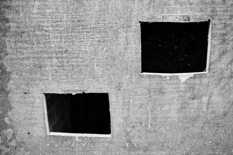 Full frame shot of window on wall