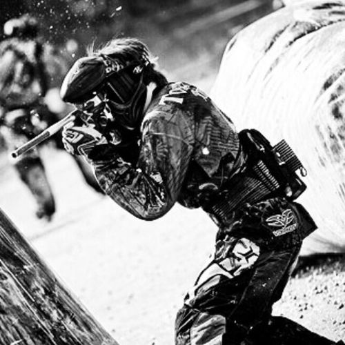 Me at a Leauge Game at Germany Paintball Paintball Team Black And White Photography Team