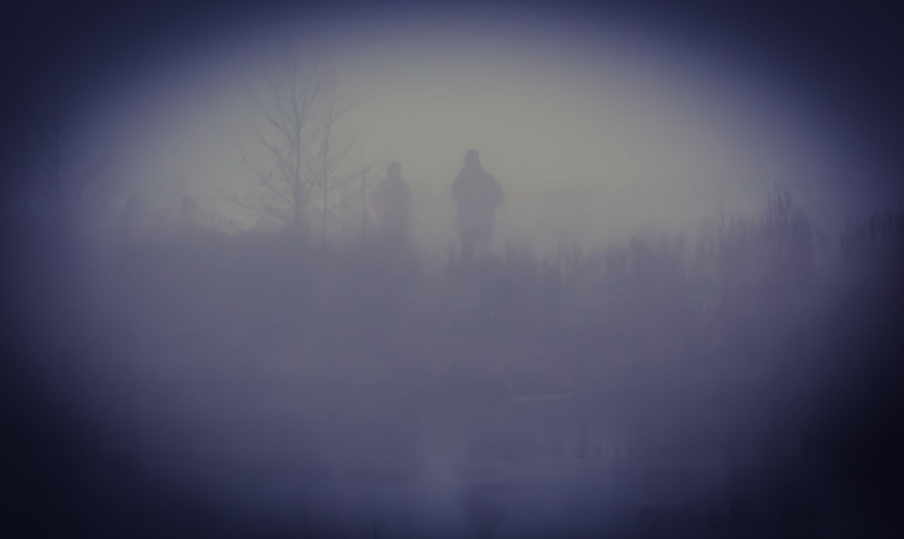 fog, silhouette, hazy, mist, nature, tree, landscape, real people, one person, outdoors, day, sky, people